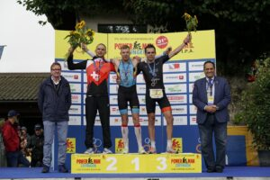 Podium of the men